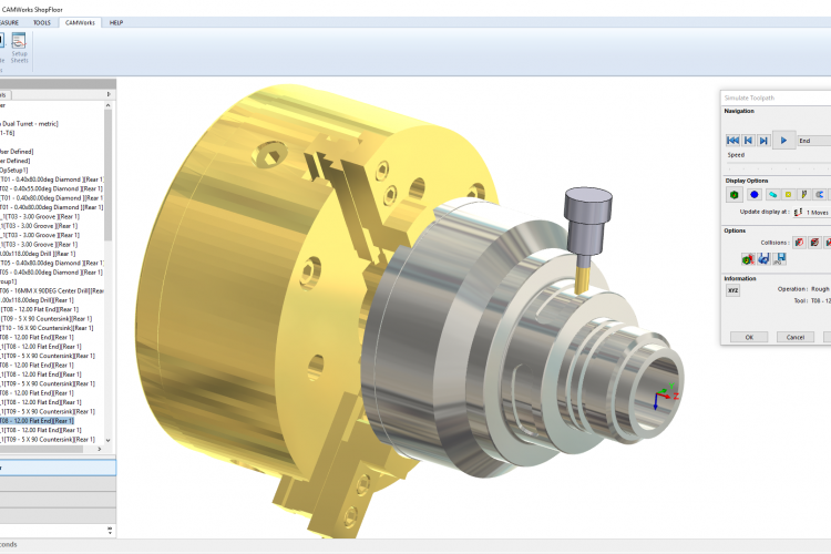 CW SF Full Toolpath Simulation - Mill-Turn
